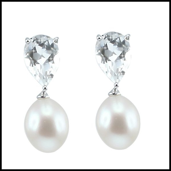YP019E - Crystal & Pearl Earring-0
