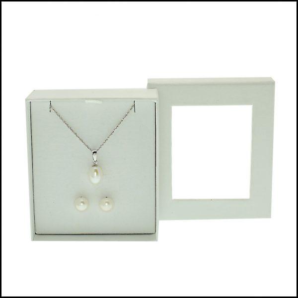 Pearl Pendant, Pearl Earrings, Pearl Earring Set, Boxed Pearl Pendant & Pearl Earring Set