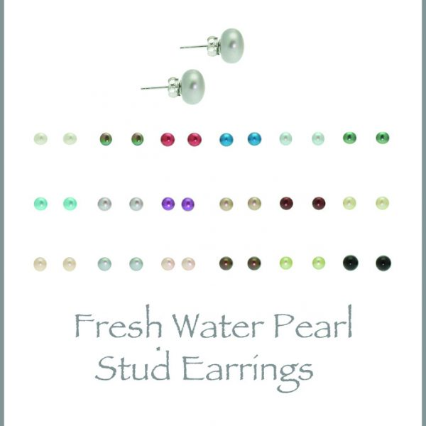Small Stud Earrings - Available in 20 colours-0
