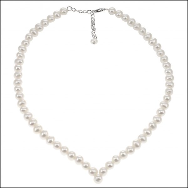SR52 - V Shaped Pearl Necklace-0