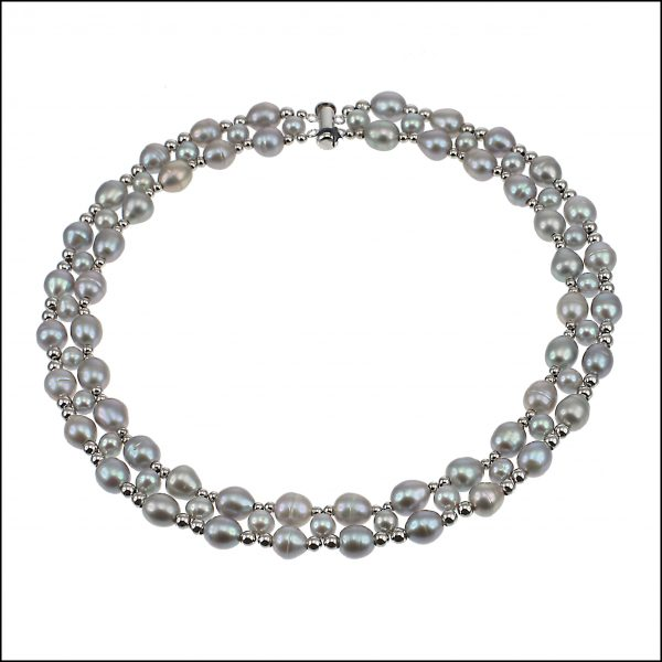 Lido Pearls F301 - Silver Grey Pearls-0