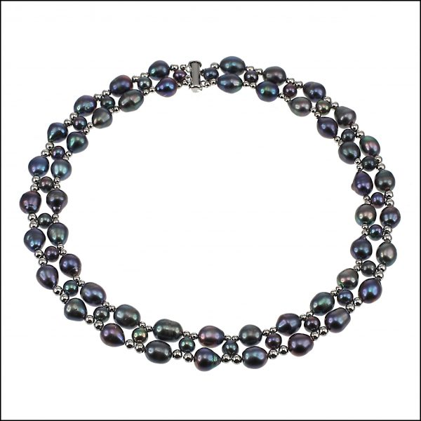Lido Necklace F301 Peacock Pearls-0