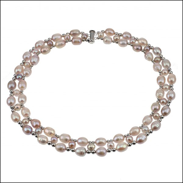 Lido Necklace - F301 Necklace Pink Pearls-0
