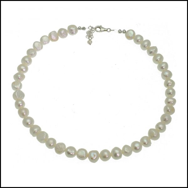 0161 White Pearl Necklace-0