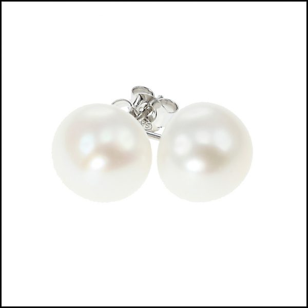 11 - 12 mm Extra Large Pearl Stud Earrings - Available in 4 colours-0
