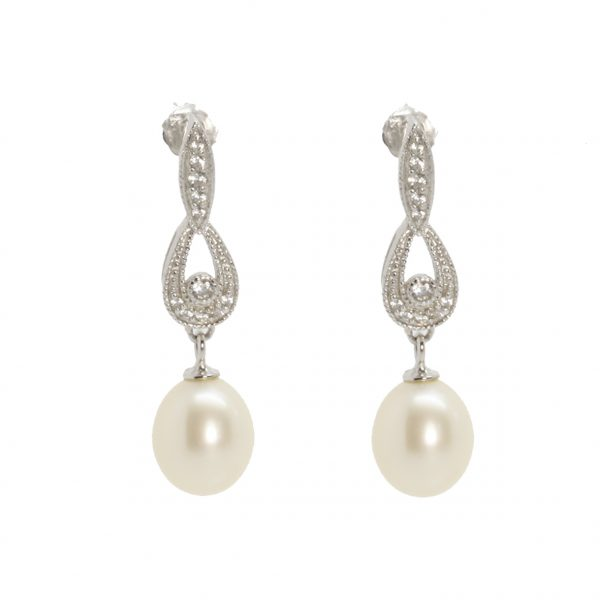 Lido Necklace - C53 - Pearl & CZ Necklace-2299