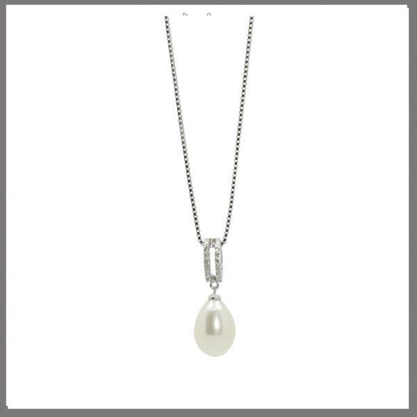 Lido Pearls YP003 - Pearl & CZ Pendant-0