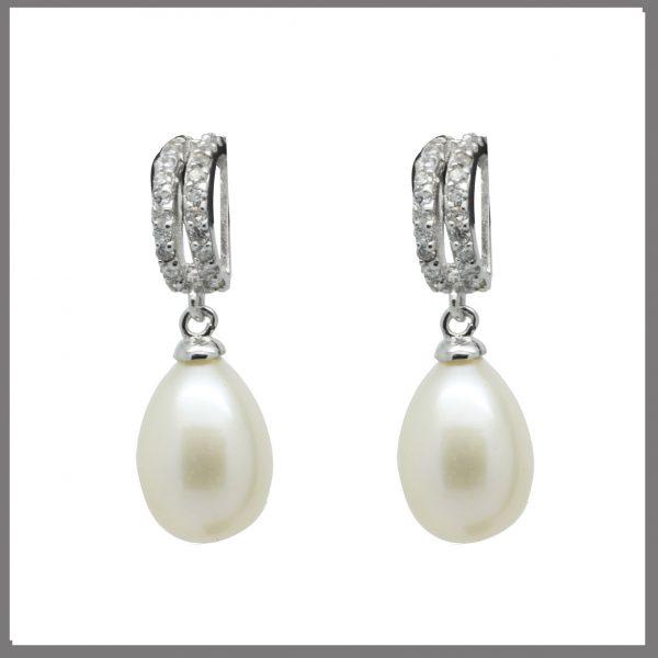 Lido Pearls YP003E - Pearl & CZ Earrings-0