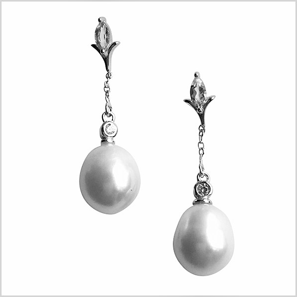 Lido Pearls Earrings - KS105E Green Amethyst-0